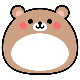 Single item bear animal frame