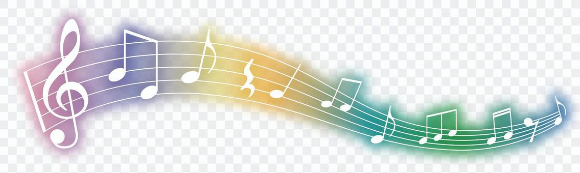 音符の飾り 虹