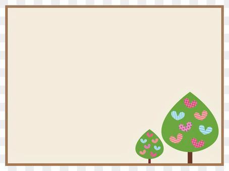 心形的树框架/框架