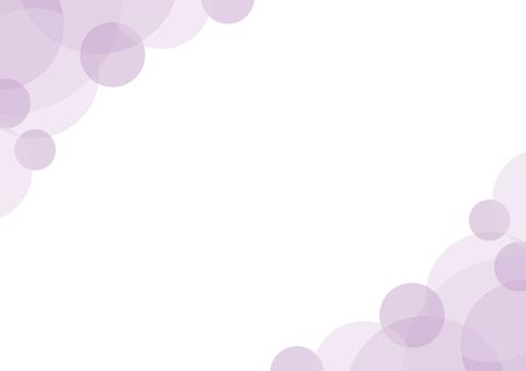 Frame background purple purple curved circle