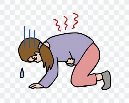 腹痛,月經來潮,妻子腹痛消失