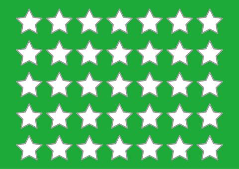 5 illustrations (squares, stars, green)
