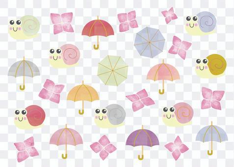 蝸牛03_03(傘、繡球)