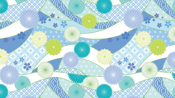 Japanese pattern background 02 horizontal wide 16: 9 flashy