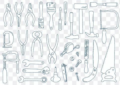 手繪素描風格插圖的工具集
