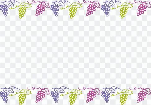 手繪葡萄裝飾框