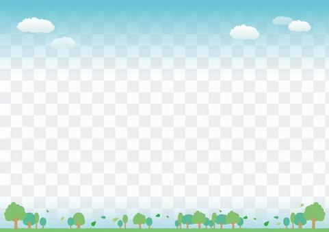 Green image banner