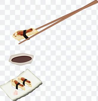 壽司壽司餐廳Conger鰻魚Anago Luxury