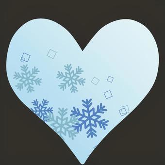ハート型の冬なイメージ
