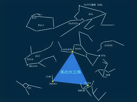 在冬天的大三角形