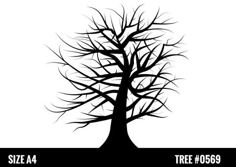 Tree tree silhouette Halloween material