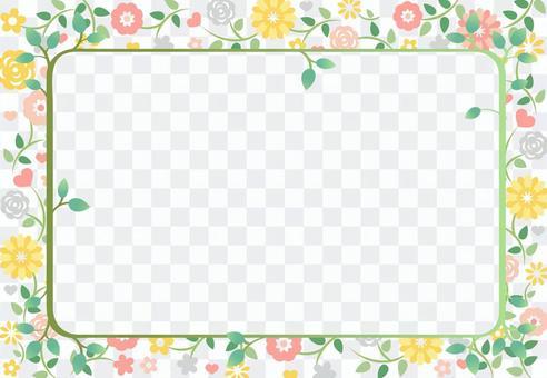 花卉圖案框架