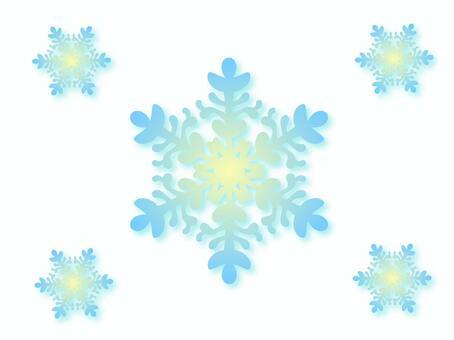 Light blue snow crystal