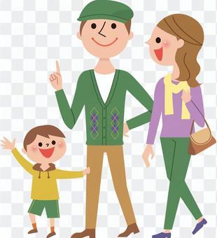 3人家庭(爸爸,妈妈,男孩)