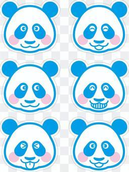 Panda (Sky Blue with a cutoff line)