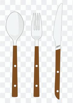 Cutlery (pattern of wood)