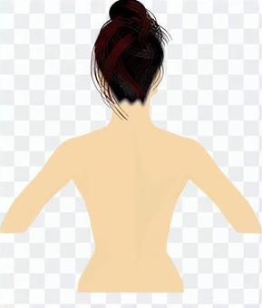 新女性背部