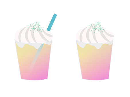 Frozen drink with whipped