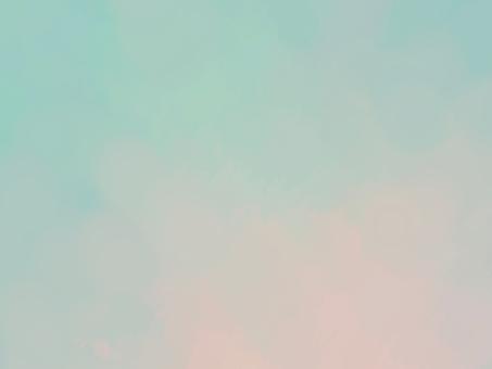 綠色和粉紅色的淡水彩紋理背景