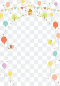 氣球和鳥架3(縱向)