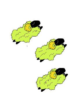 Sheep jump