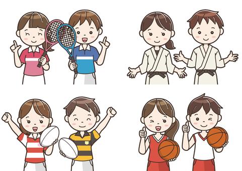 Club activity illustration 09