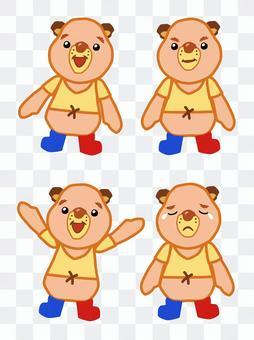 黄熊毛绒玩具