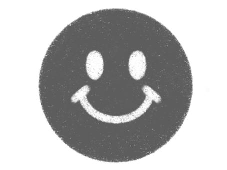 Nico-chan mark drawn with crayon black