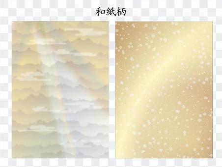 日本花紋素材