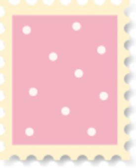可愛的郵票波爾卡圓點