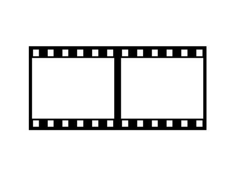 Negative film horizontal 2 frames
