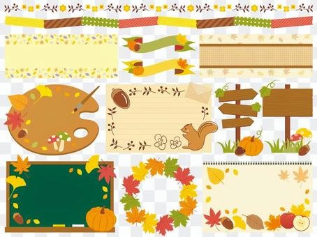 Various decorative sets in autumn