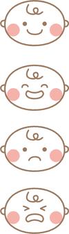 寶貝的面部表情