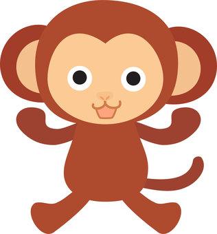 Bipedal walking Surprised monkey illustration
