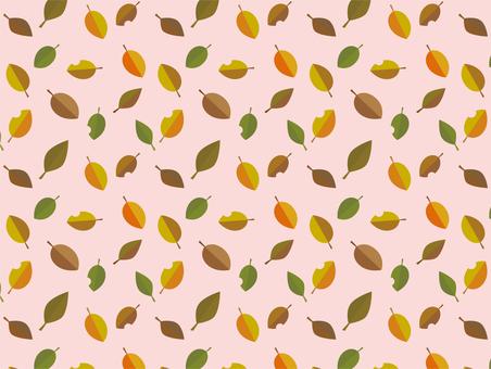 Autumn leaf pattern texture 06