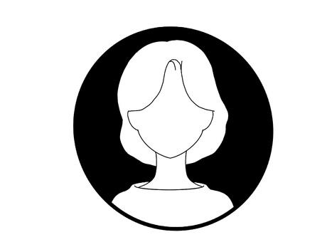 Monochrome icon_face_female_30s