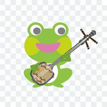 Frog playing three lines