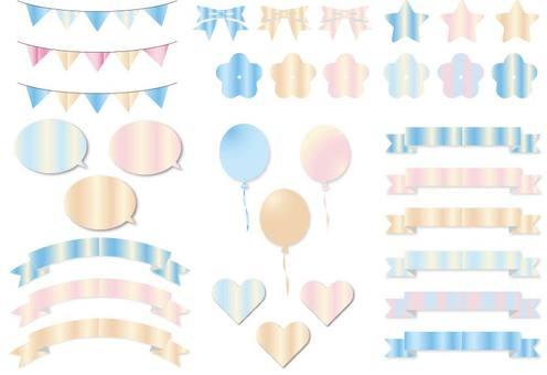 Light blue gradation material set