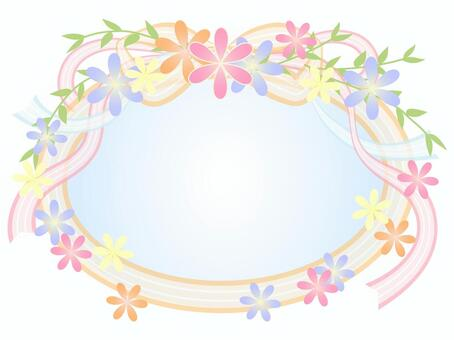 花和丝带框架2