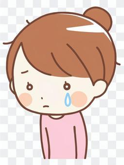 哭泣的女人(普通的衣服)