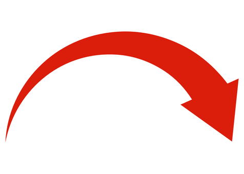 Arrow Arrow with momentum Mountain arrow Red