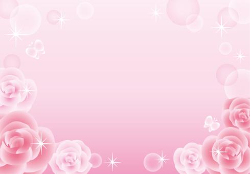 玫瑰閃光框架(粉紅色)
