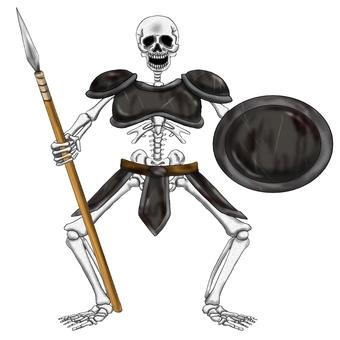 骷髏矛盾盔甲裝備