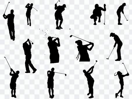 高爾夫剪影_set 3