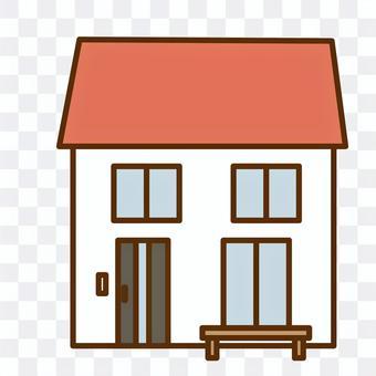 一所房子的插圖