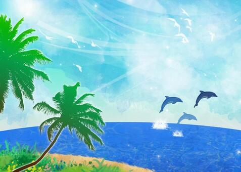 海和棕櫚樹