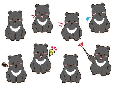 亞洲黑熊的姿勢集
