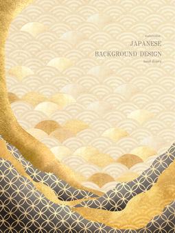 新年賀卡青海波日本背景 28