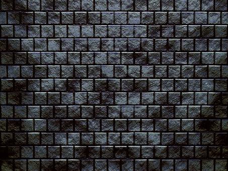 像監獄一樣的黑磚牆 4:3