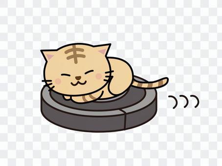 機器人吸塵器和貓